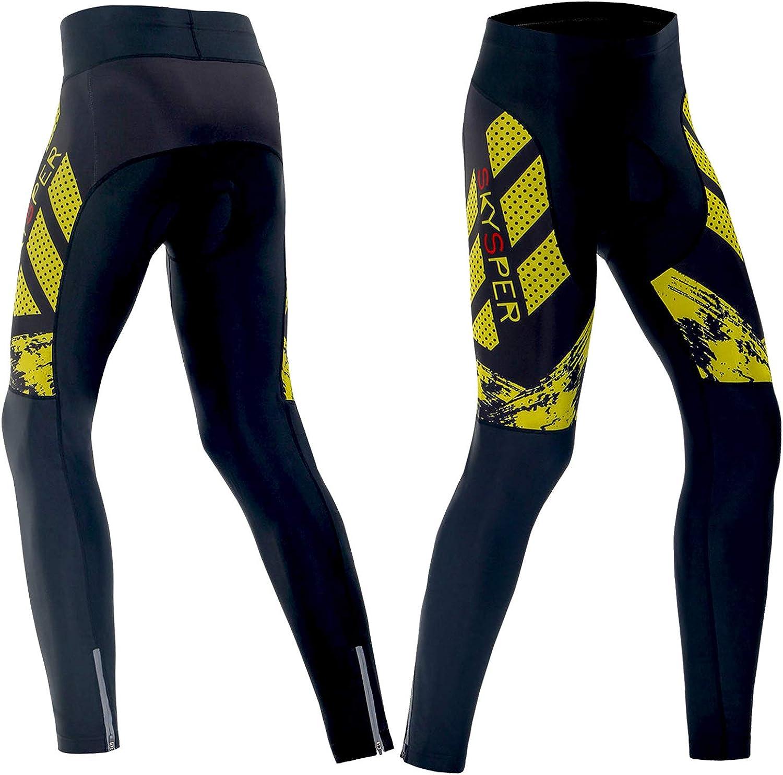 Fahrradhose Lang Pro Radlerhose 3D Coolmax Sitzpolster Radhose MTB Cycling Pants