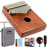 Kalimba Thumb Finger Piano Marimbas 17 Key Mbira Likembe Sanza karimba Mahogany with Padded Gig Bag Tuner Hammer By…