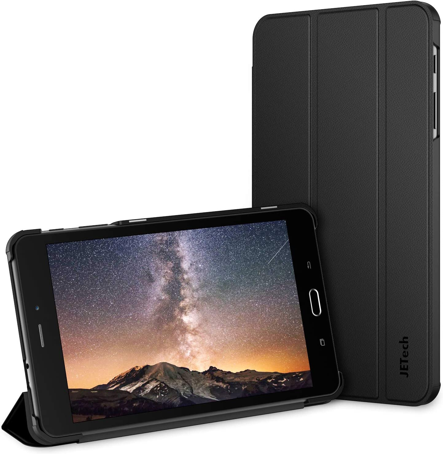 JETech Case for Samsung Tab A 8.0 Tablet 2017 Release T380/T385, (NOT for 2015 Model), Smart Cover with Auto Sleep/Wake (Black)