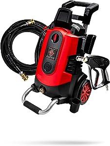 Adam's Electric Pressure Washer 2.0 - Powerful 1.8 GPM 2500 PSI Car Wash Pressure Washer Sprayer | Snub Nose & Tip Attachment | Use W/ Foam Gun & Car Soap | Patio Boat RV Motorcycle Car Garage Deck