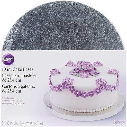 """10/"""" inch SQUARE CAKE BOARD DRUM /& BOX Silver FAST DEL"""