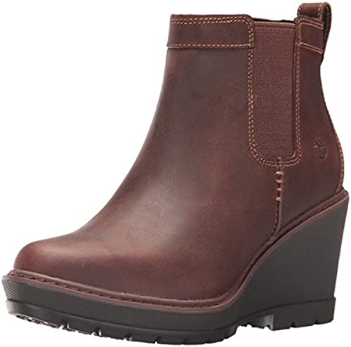 da1cf17e863 Timberland Women s Kellis Wedge Chelsea Boots Brown 10 W  Buy Online ...