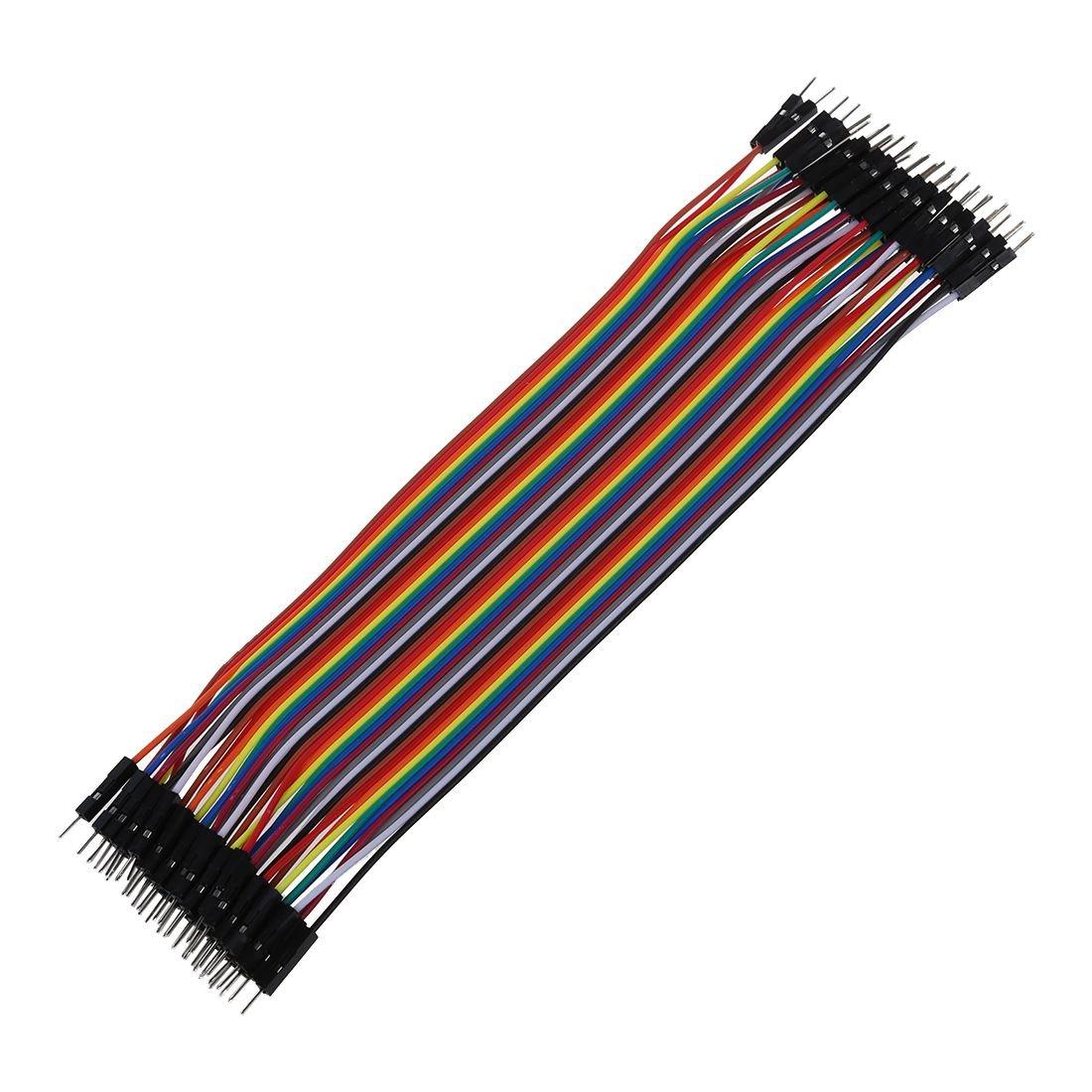 SODIAL(R) 40 pz 20cm 2, 54 mm maschio al cavo maschio del filo del ponticello della birra per Arduino 038266