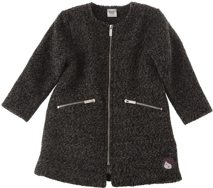 Tuc Tuc 38714, Abrigo para Niñas, Gris, One Size (Tamaño del Fabricante