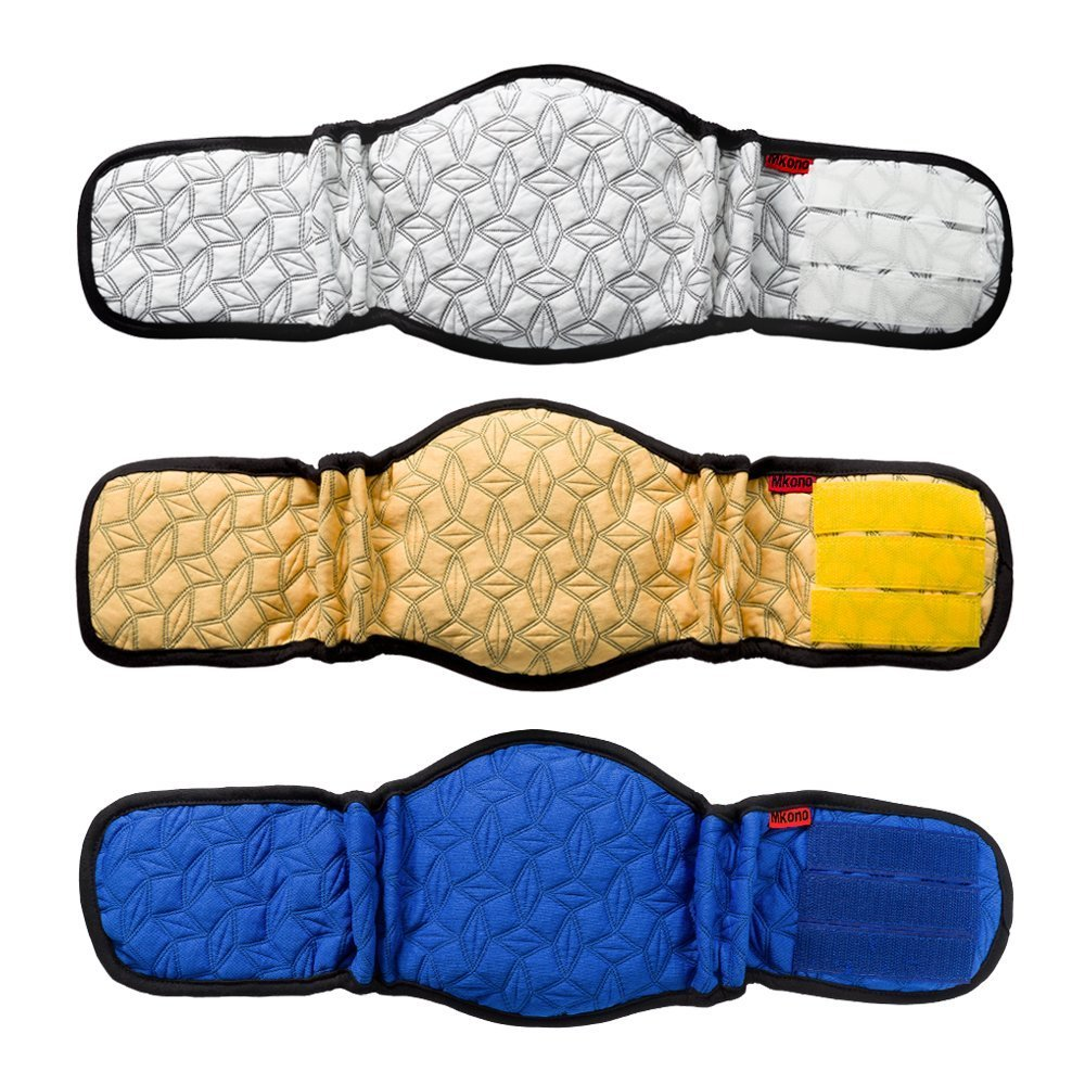 by Mkouo Male Dog Belly Band Wraps Incontinency Nappies for Small And Medium Dogs 3 Pack