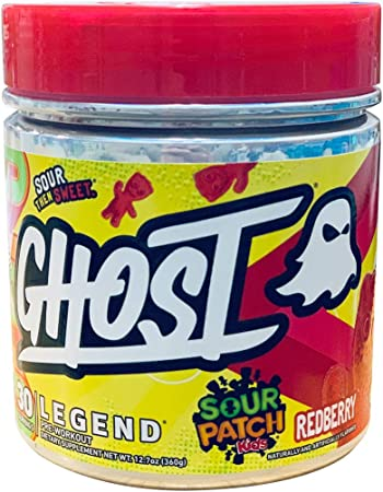 GHOST Legend 30 Servings Pre-Workout Supplement (Sour Patch Redberry, 1 Container)