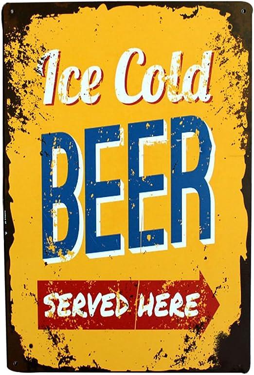 Topdo 1pcs Poster M/étallique Affiche Peinture Art D/écoratif Vintage pour Bar Caf/é Pub Vintage Poster Mural r/étro Plaque en m/étal Bar Pub 20 30cm Hot Dogs