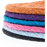 Paracord Planet Solid Braid Poly Cotton Rope – 1/2, 3/8, 1/4, 3/16, and 1/8 inch Sizes – Sash Cord Available in Various Colors