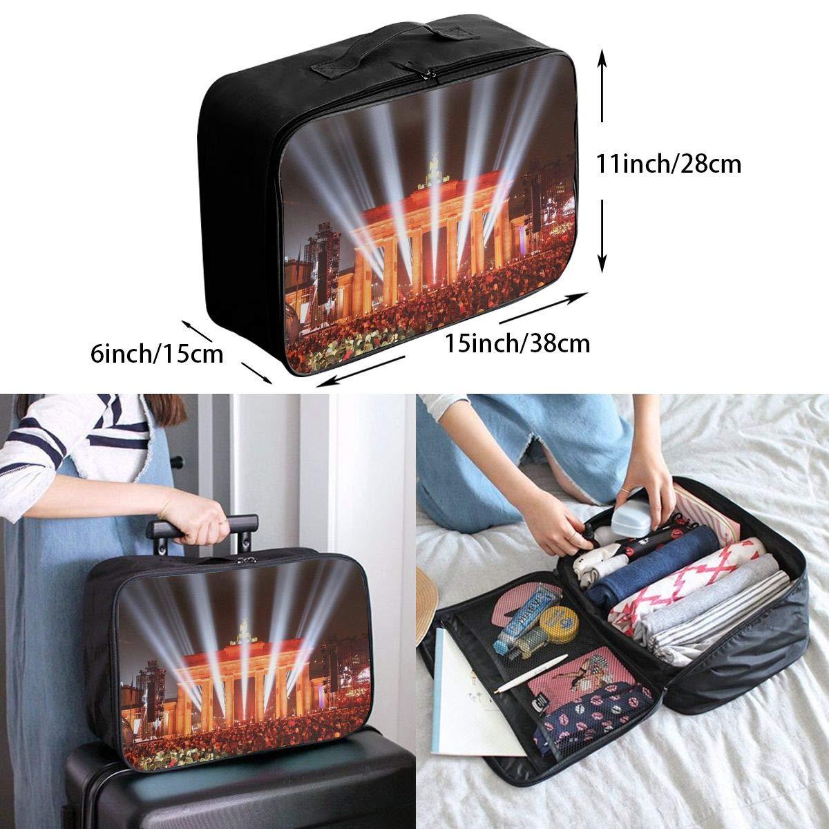 Travel Luggage Duffle Bag Lightweight Portable Handbag Brandenburg Gate Large Capacity Waterproof Foldable Storage Tote