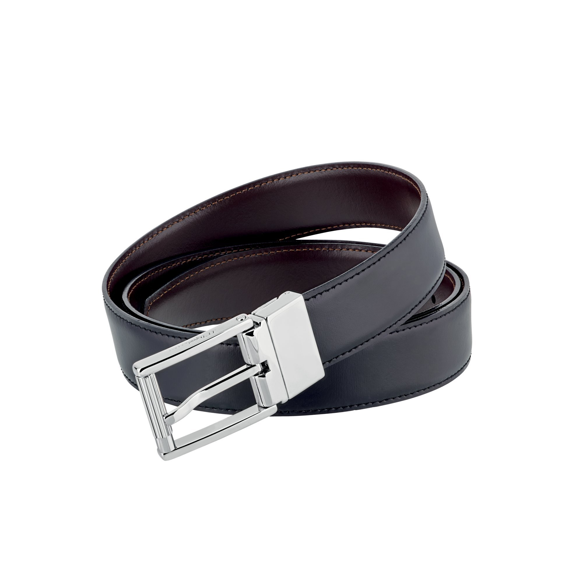S.T. Dupont 9540120 Palladium Finish Auto-Reversible Business Belt