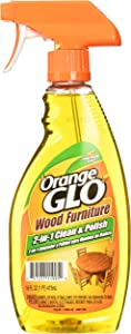Orange Glo Wood Furniture 2-in-1 Cleaner & Polish, 16 ounces