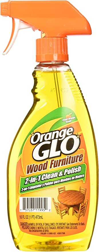 Amazon.com: Orange Glo Wood Furniture 2-in-1 Cleaner & Polish, 16 ounces:  Health & Personal Care