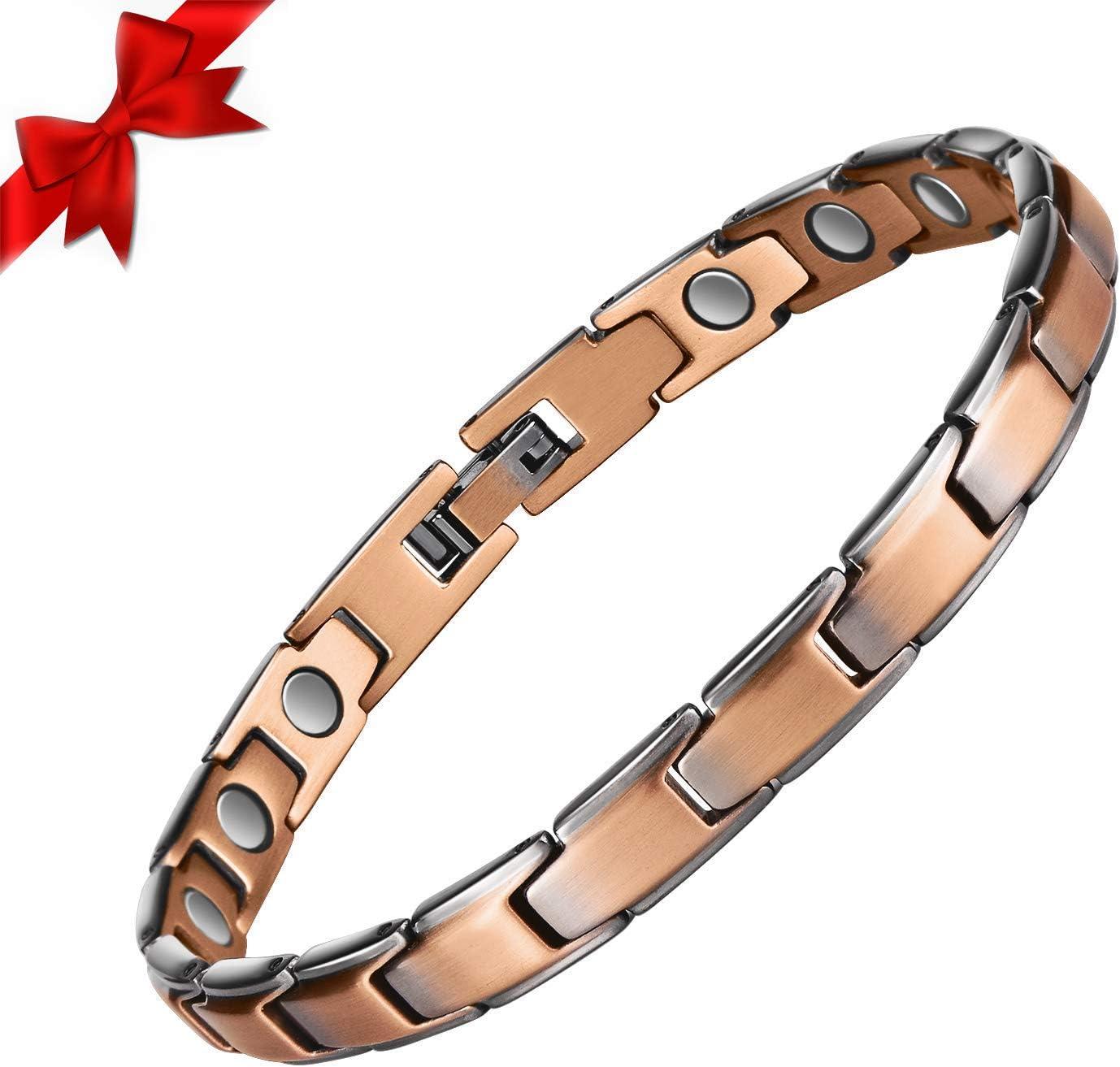Retro red and bronze bracelet