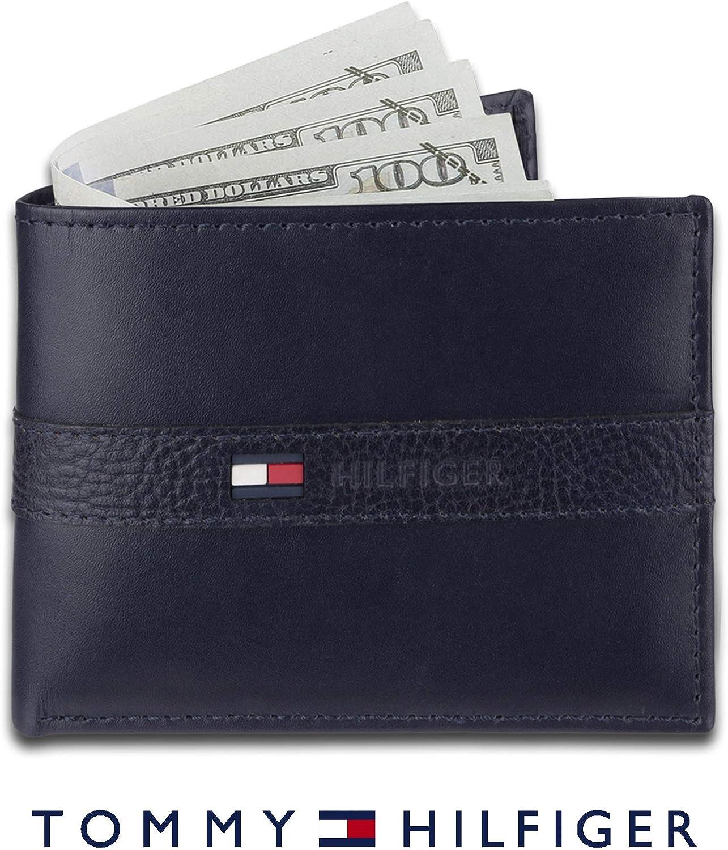 Tommy Hilfiger Mens Leather Ranger Passcase Billfold Wallet