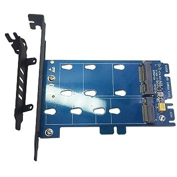 Amazon.com: Glotrends Adaptador de M.2 PCIe NVMe o PCIe AHCI ...