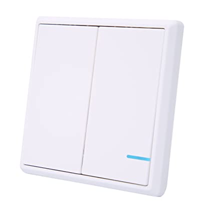 Superb Wallpad White Wireless Remote 2 Gang Light Switch Install Anywhere Wiring Digital Resources Remcakbiperorg