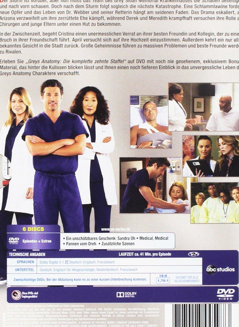 Greys Anatomy Die Jungen Rzte Die Komplette 10 Staffel 6 Dvds