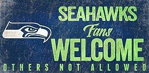 Fan Creations Seattle Seahawks Fans Welcome Sign, Multi