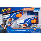 Nerf N-Strike Elite Disruptor 6 Dart Rapid Fire Nerf Gun Blaster Shoots 90 ft! (Twin Pack)