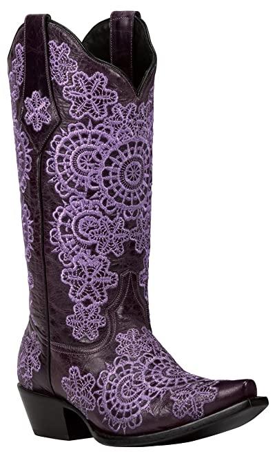MEDINA (Purple) Women's Cowboy Boots