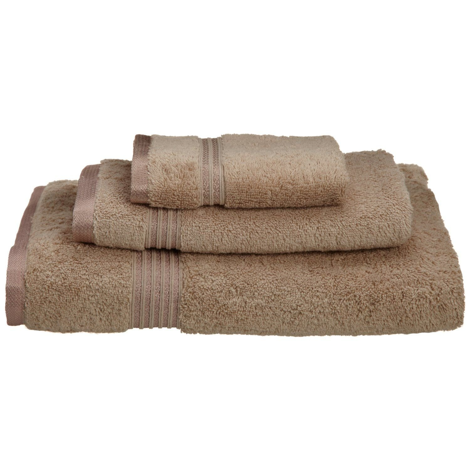 Superior Luxurious Soft Hotel & Spa Quality 3-Piece Towel Set, Made of 100% Premium Long-Staple Combed Cotton - Washcloth, Hand Towel, and Bath Towel, Taupe