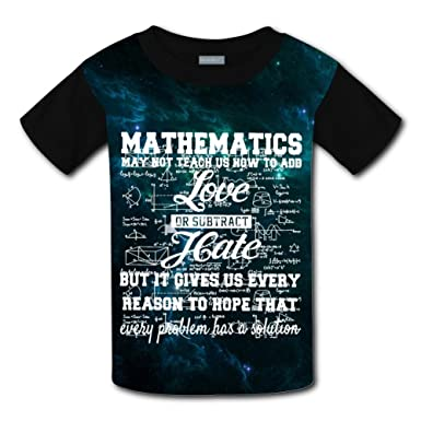 Aslgisy Mathematics Casual T-Shirt Short Sleeve for Kids