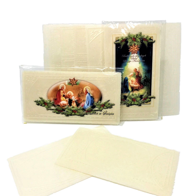 Amazon.com: Set of 12 Large Polish White Christmas Wafers (Oplatki)