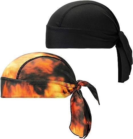 Summer Sweat Wicking Skull Cap Beanie Head Wrap Helmet Liner Cycling Chemo Hats