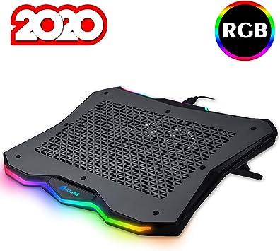 KLIM™ Rainbow - Base de refrigeración para portátiles RGB + 11