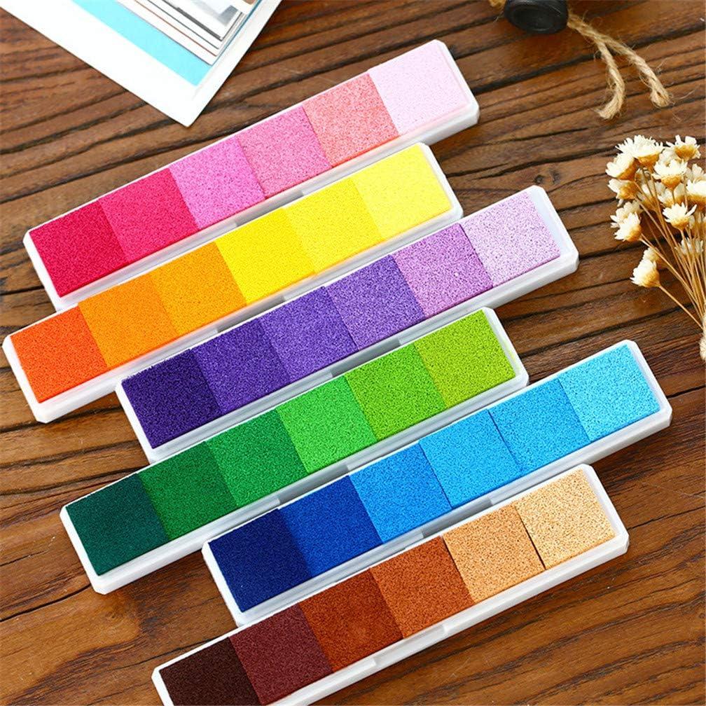 per Biglietti Carta 20 Colori. Set di timbri Arcobaleno per Bambini timbri di Gomma Colorati Zeagro Tampone di Inchiostro per Impronte digitali