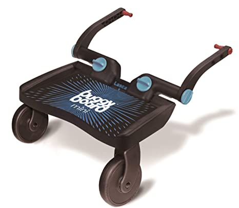 Lascal 2840 - Buggy Board Mini - Tabla con ruedas para carrito, color azul y negro