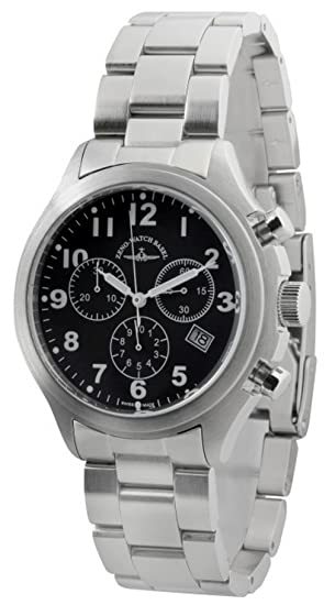 Zeno-Watch Reloj Mujer - Aviator Cronógrafo - 926Q-a1M: Amazon.es: Relojes