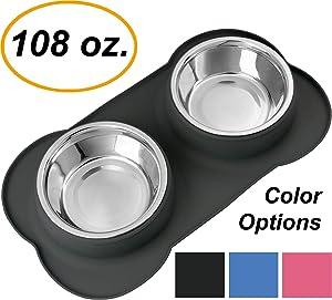 EZPETZ Large Stainless Steel Dog Bowls