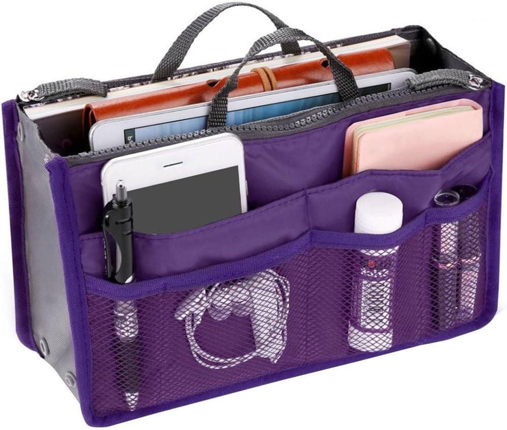 Wrighteu Organiseur de Sac /à main Violet violet