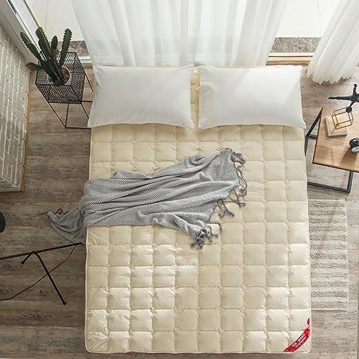DULPLAY De algodón Abajo Primeros del colchón,Cojines de colchón ...