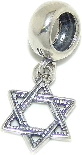Estrella De David encanto plata esterlina 925
