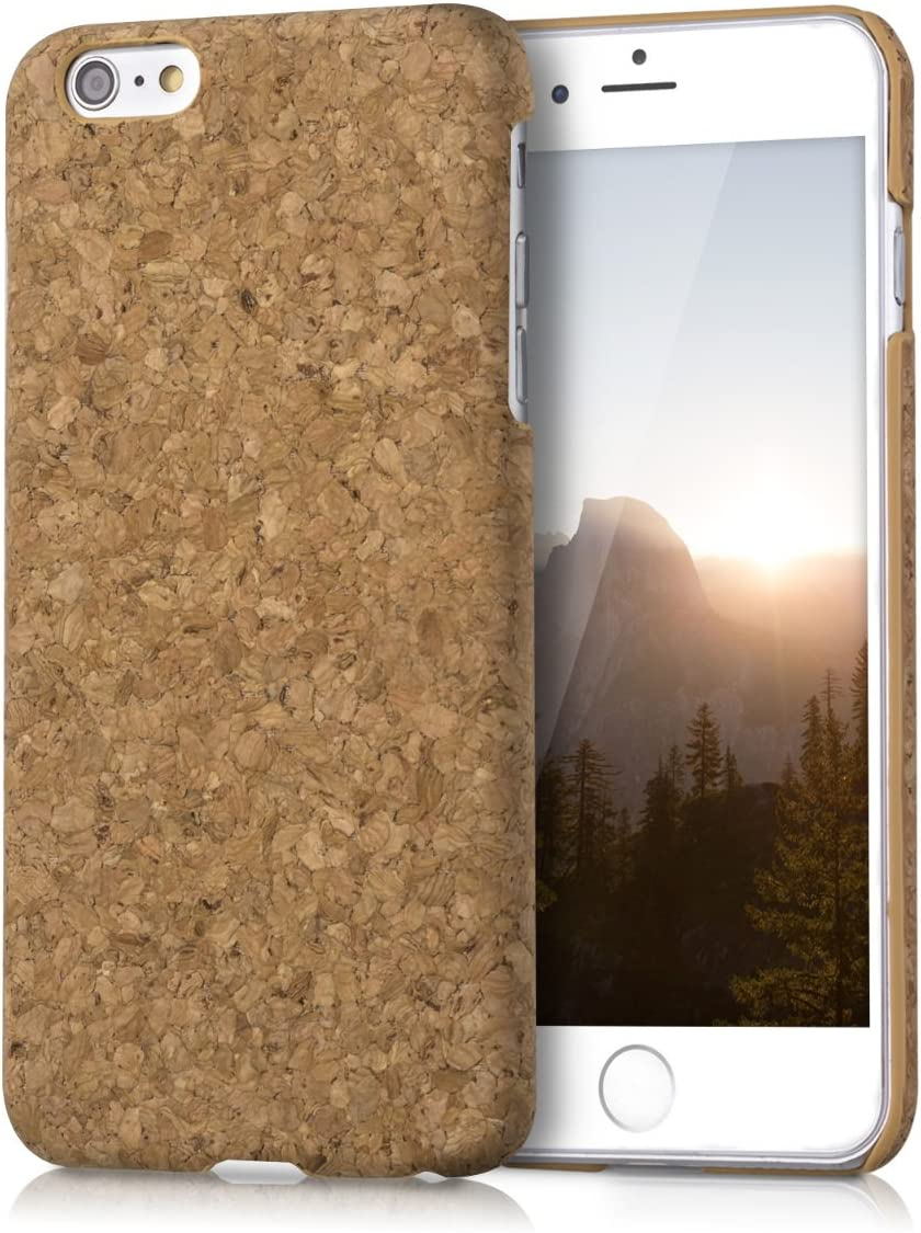 kwmobile Estuche de corcho natural para el Apple iPhone 6 Plus / 6S Plus en marrón claro: Amazon.es: Electrónica