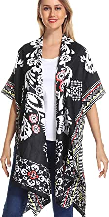 Women's Stylish Kimono Cardigan with Pom-pom, Loose Sleeveless Beach Cover Up, Fashion Swimwear Cover for 2020 Spring Summer