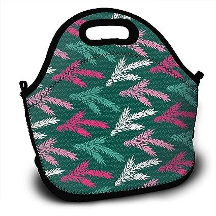 c55c01c65647 Amazon.com - LIUYAN Personalized Bento Lunch Box Fir Branch Mom Bag ...