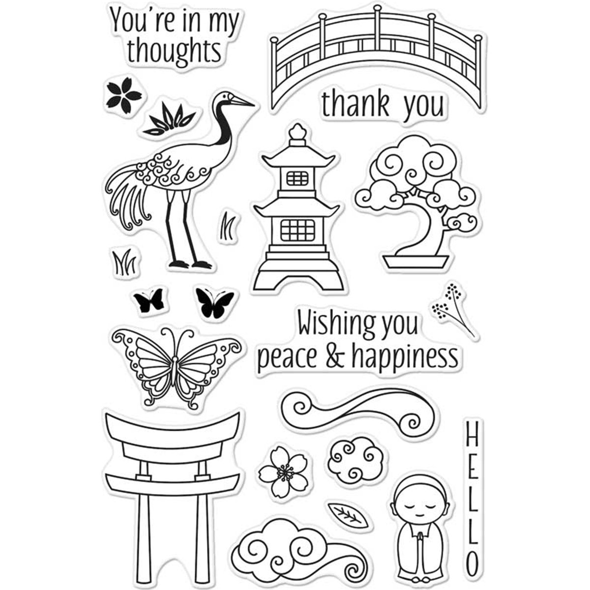 Hero Arts CM135 Clear Stamps Thank You Messages