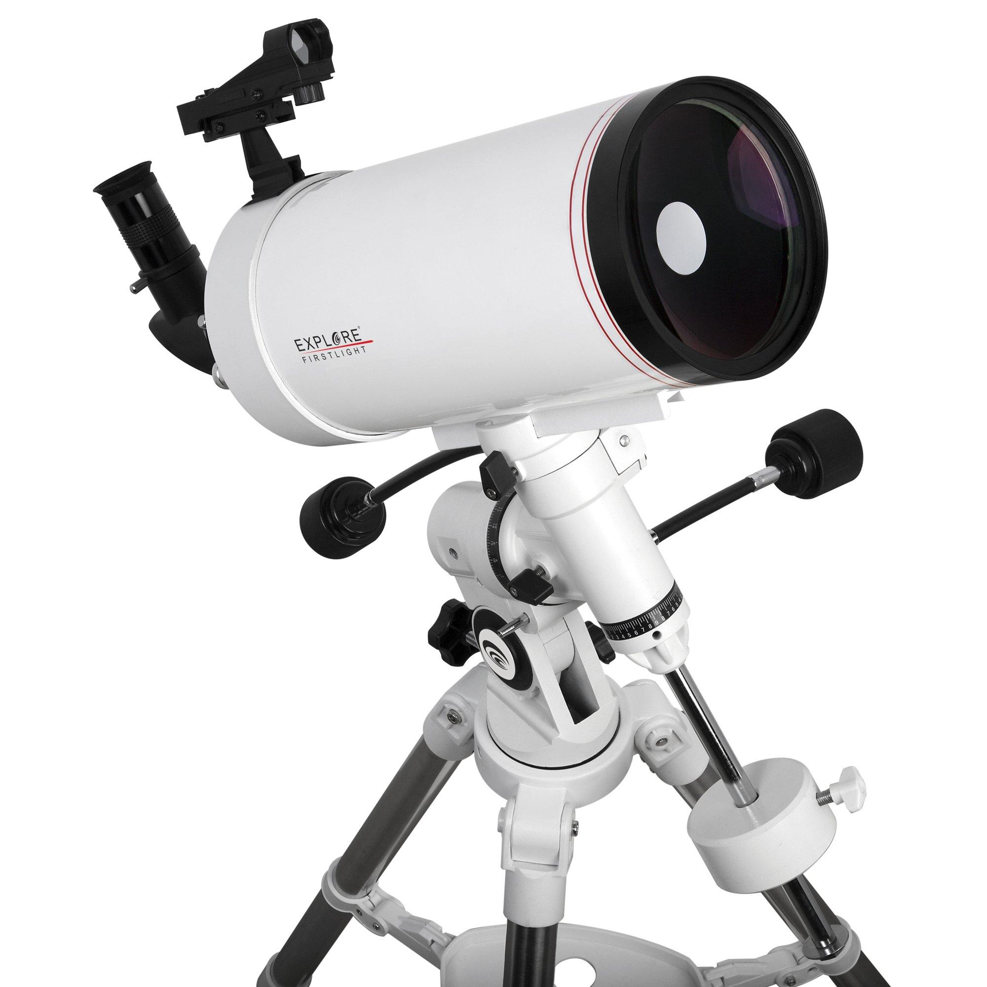 Explore Scientific FL-MC1271900EQ3 First Light Tube sutov-Cassegrain Telescope with Exos Nano, 127mm, White by Explore Scientific