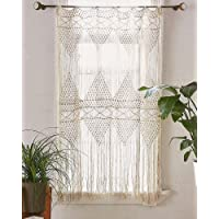 "Flber Macrame Handwoven Wall Hanging Curtain, 50"" w x 75"" h"