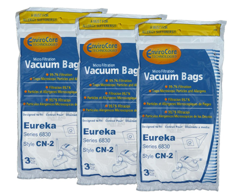 EnviroCare Replacement Micro Filtration Vacuum bags for Eureka EX Allergy Canisters 9 Pack