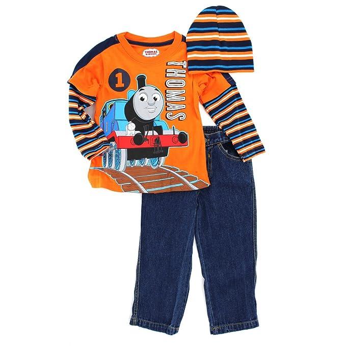 Amazon.com: Thomas Tren bebé 3 PC Tee Jeans Beanie Set, 2T ...