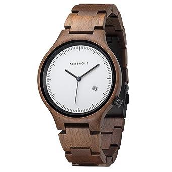 8e66da924f1bb5 Kerbholz Armbanduhr Lamprecht Walnut  Amazon.de  Uhren
