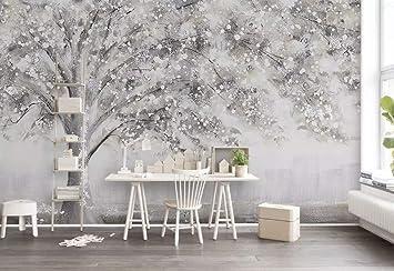 Duvarkapla Kış Ağacı Boya Sanat Suluboya Boyama 3 Boyutlu Duvar