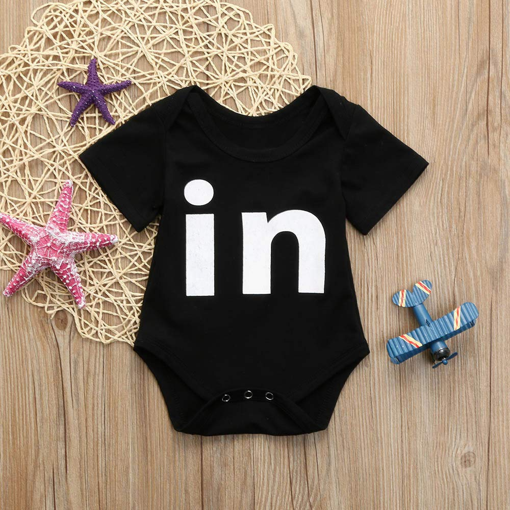 SiQing Newborn Infant Baby Boys Girls Bodysuit Twins Romper Playsuit Outfits Clothes