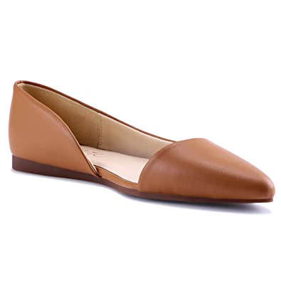 HSYZZY Women Flat Shoes Leather Slip On Comfort Casual