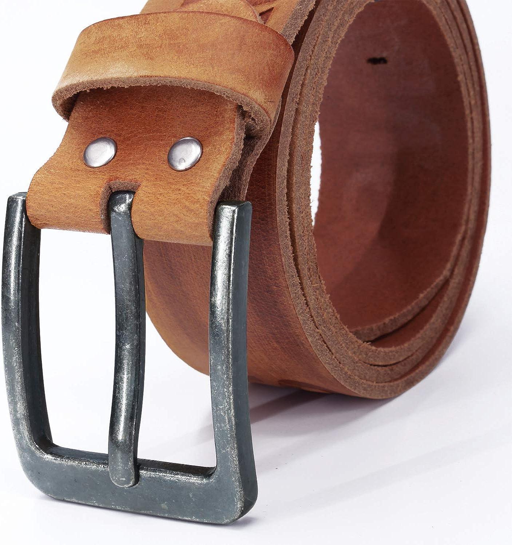 k/ürzbar #JEANS-38mm Fa.Volmer /® Lederg/ürtel 100/% B/üffelleder Jeans-G/ürtel f/ür Damen und Herren Breite 38mm in den Farben schwarz braun tan