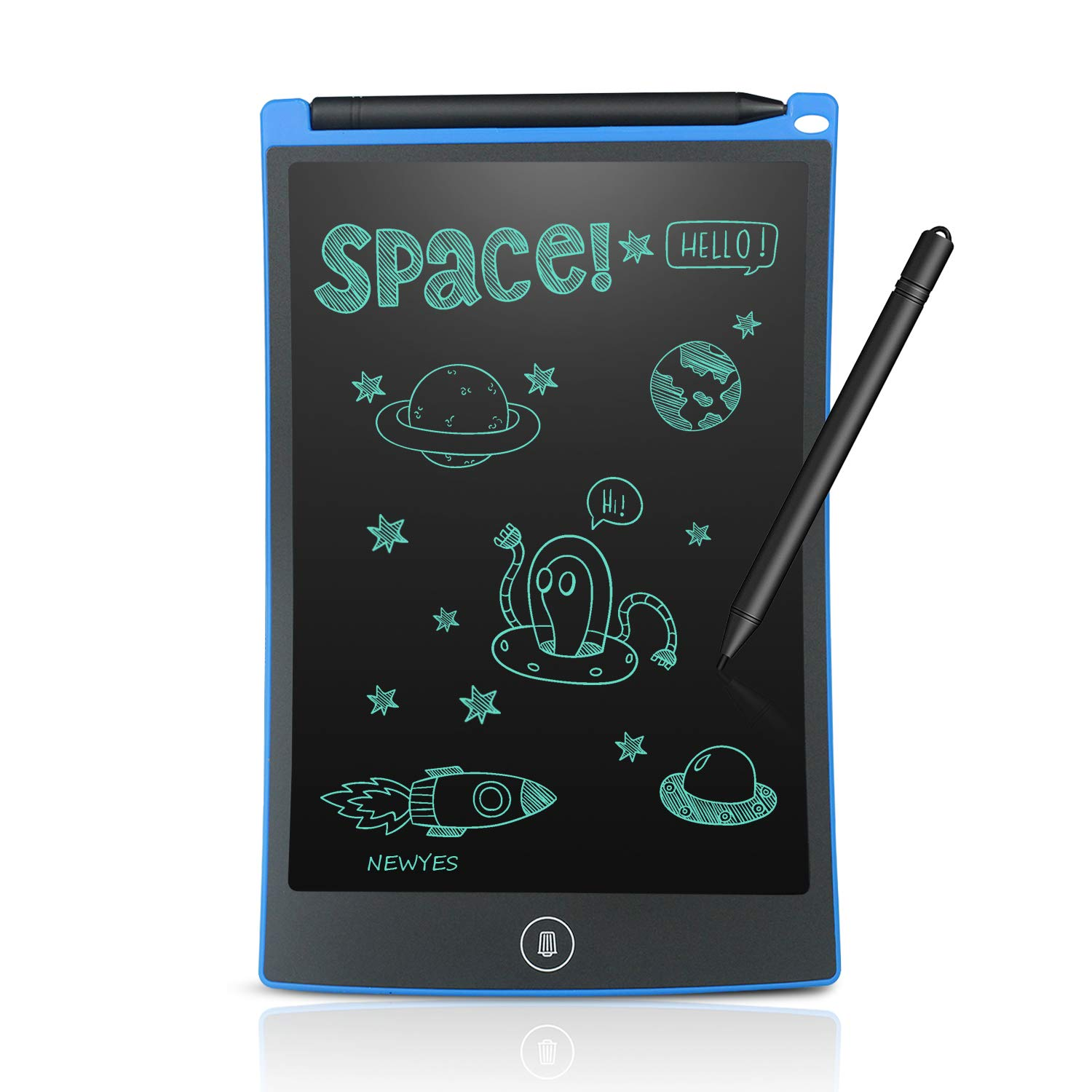NEWYES 8.5 Inch Doodle Pad LCD Writing Tablet Kitchen Fridge Memo Board Toys for Kids(Blue) by NEWYES